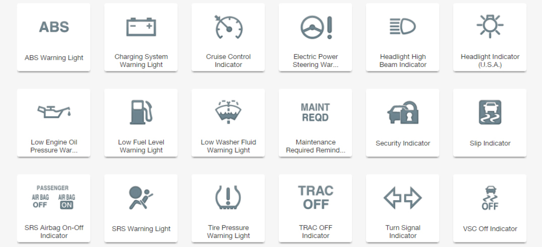 Guide to Toyota Dashboard Indicators