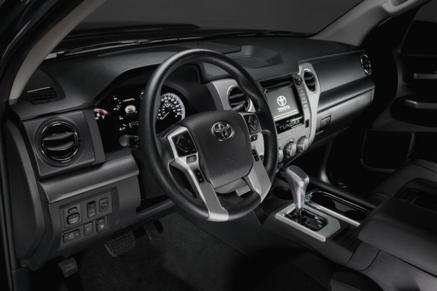 2018 Tundra TRD Sport has several TRD accessories on the interior