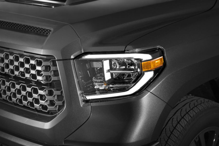 LED headlights are common on most 2018 Tundra models