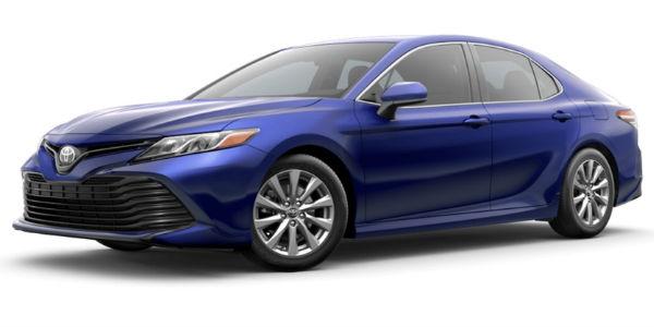 Blue Crush Metallic 2018 Toyota Camry Exterior Color