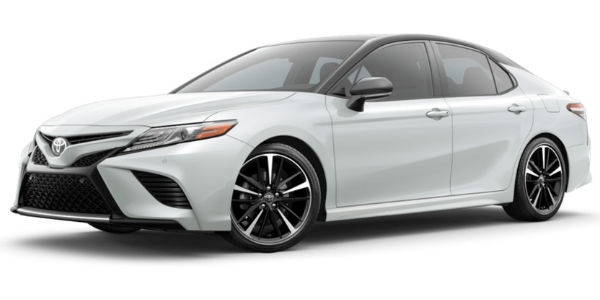 Wind Chill Pearl 2018 Toyota Camry with Midnight Black Metallic Roof