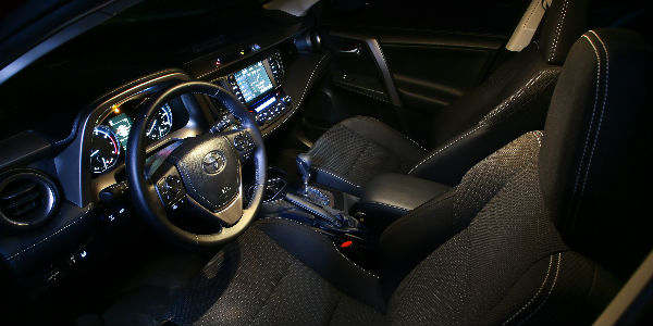 Black 2018 Toyota RAV4 Interior Dashboard and Entune Touchscreen