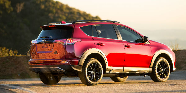 Red 2018 Toyota RAV4 Adventure Exterior