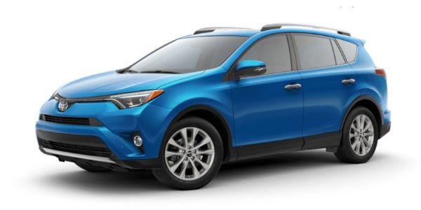 Electric Storm Blue 2018 Toyota RAV4 Exterior