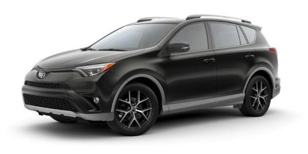 Two-Tone S-Code Black 2018 Toyota RAV4 SE Exterior