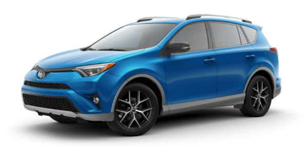 Two-Tone S-Code Electric Storm Blue 2018 Toyota RAV4 SE Exterior