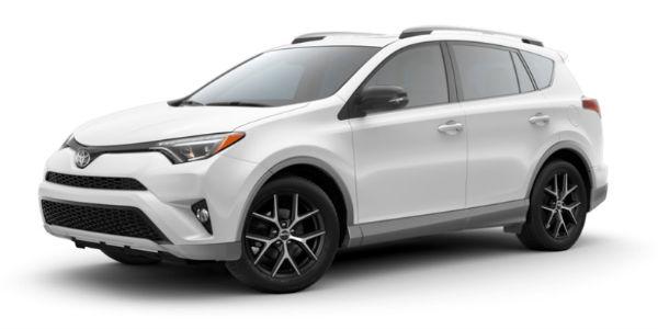 Two-Tone S-Code Super White 2018 Toyota RAV4 SE Exterior