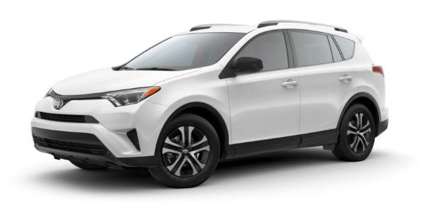 Super White 2018 Toyota RAV4 Exterior