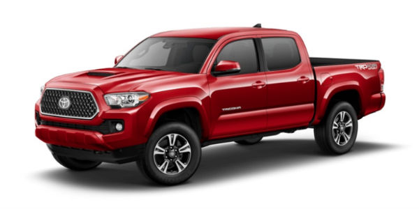 Barcelona Red Metallic 2018 Toyota Tacoma Exterior on White Background