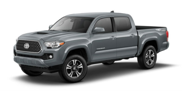 Cement 2018 Toyota Tacoma Exterior on White Background