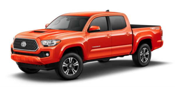 Inferno 2018 Toyota Tacoma Exterior on White Background