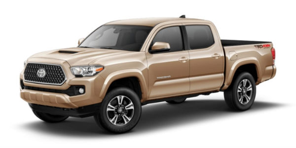 Quicksand 2018 Toyota Tacoma Exterior on White Background