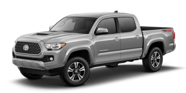 Silver Sky Metallic 2018 Toyota Tacoma Exterior on White Background