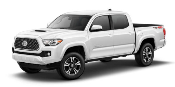 Super White 2018 Toyota Tacoma Exterior on White Background