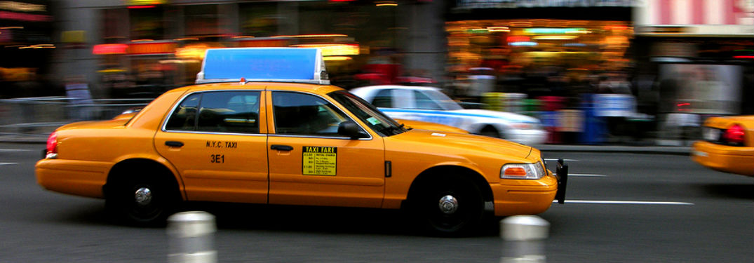 NYC Cab in traffic