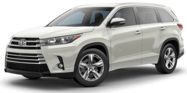 Blizzard Pearl 2018 Toyota Highlander Exterior on White Background