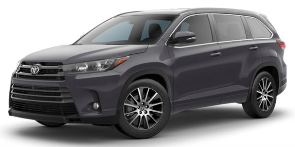 Predawn Gray Mica 2018 Toyota Highlander Exterior on White Background