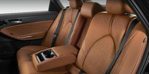 Brown 2019 Toyota Avalon Limited Premium Leather Rear Seat Interior