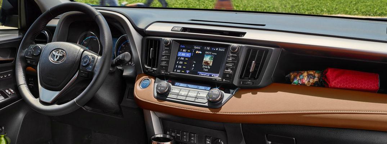 2018 Toyota RAV4 Interior, Dashboard and Toyota Entune Touchscreen Display