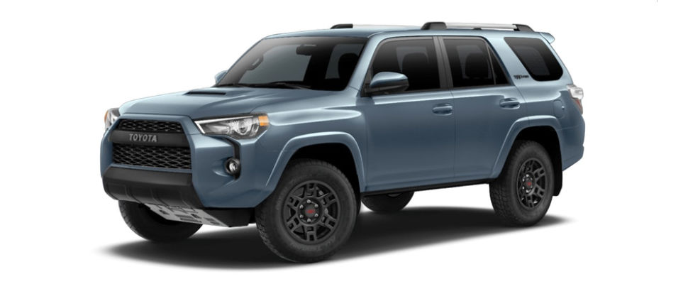 Cavalry Blue 2018 Toyota 4Runner Exterior on White Background