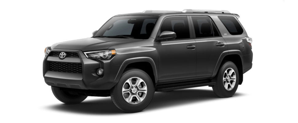 Magnetic Gray Metallic 2018 Toyota 4Runner Exterior on White Background