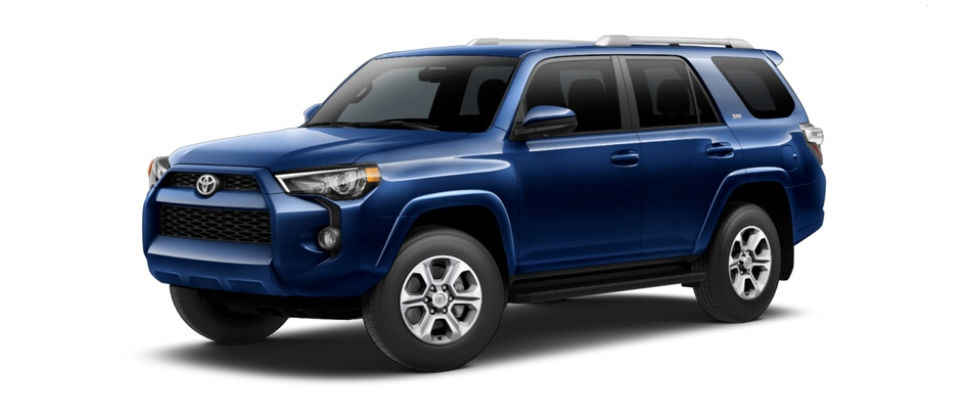 Nautical Blue Metallic 2018 Toyota 4Runner Exterior on White Background
