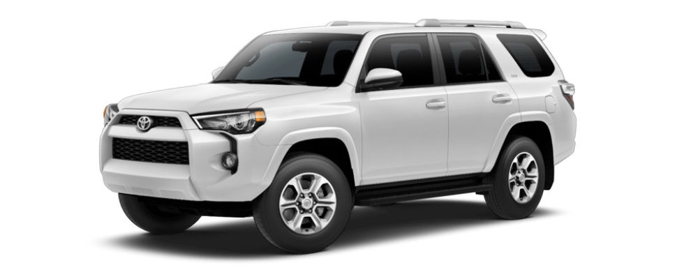 Super White 2018 Toyota 4Runner Exterior on White Background