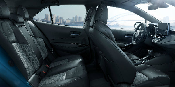 Cutaway View of 2019 Toyota Corolla Hatchback Interior