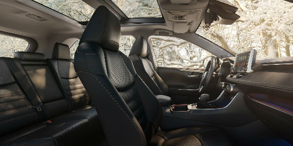 Front and Rear Interior of the 2019 Toyota RAV4