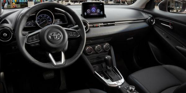 2019 Toyota Yaris Sedan Steering Wheel, Dashboard and Touchscreen Display