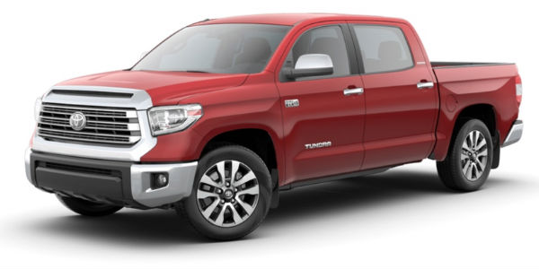 Barcelona Red Metallic 2018 Toyota Tundra on a White Background