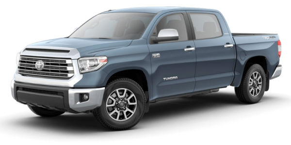 Cavalry Blue 2018 Toyota Tundra on a White Background