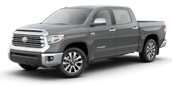 Cement 2018 Toyota Tundra on a White Background