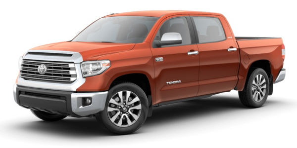 Inferno 2018 Toyota Tundra on a White Background