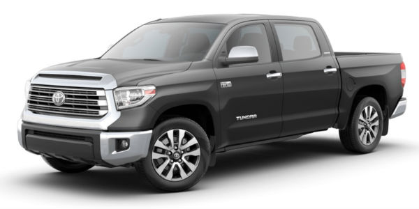 Magnetic Gray metallic 2018 Toyota Tundra on a White Background