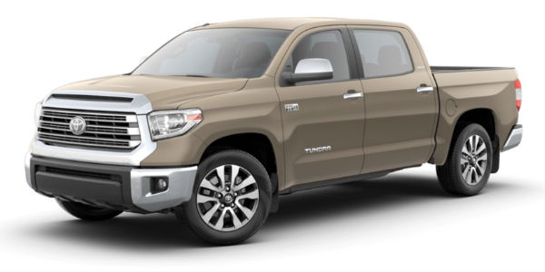 Quicksand 2018 Toyota Tundra on a White Background