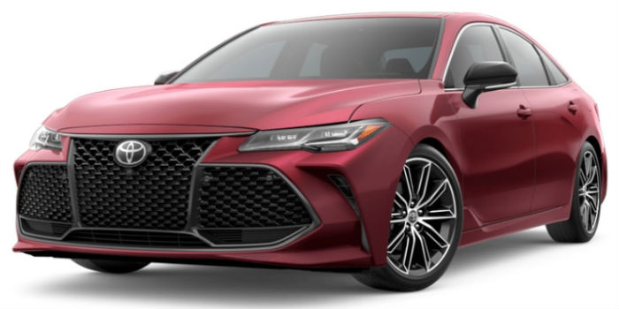 Ruby Flare Pearl 2019 Toyota Avalon Exterior on a White Background
