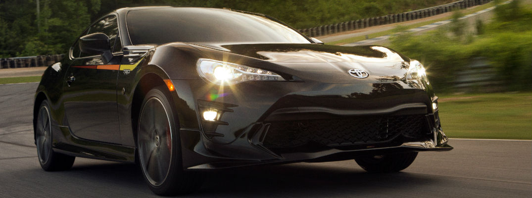 Black 2019 Toyota 86 Front Exterior on a Track