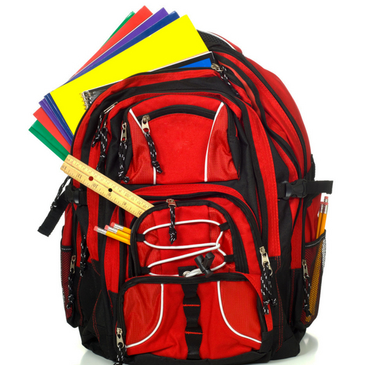 new backpack and supplies