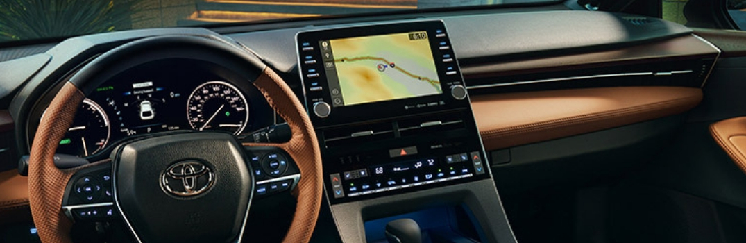 display screen in the 2019 Avalon
