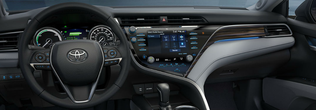 entune display in new toyota vehicle