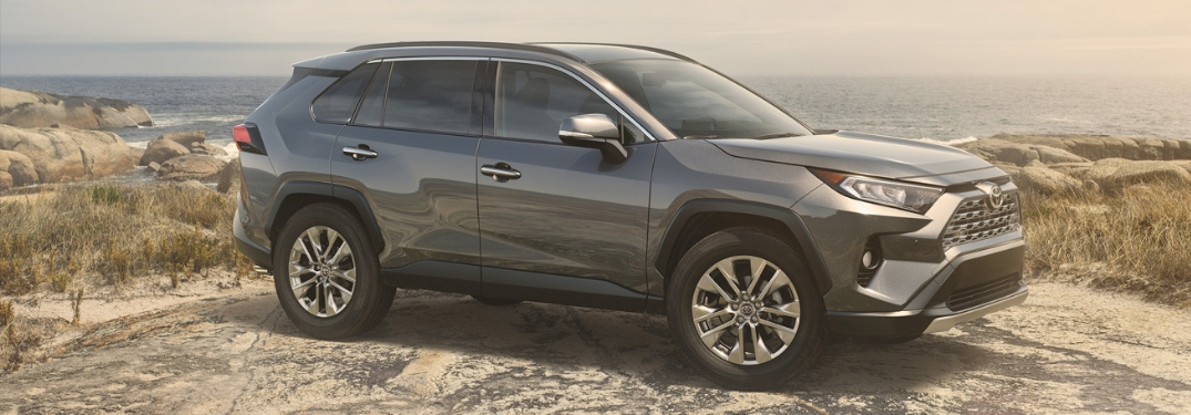 grey 2019 rav4 parked