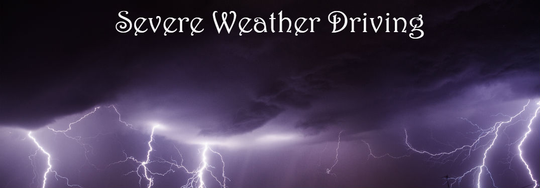 severe weather driving banner