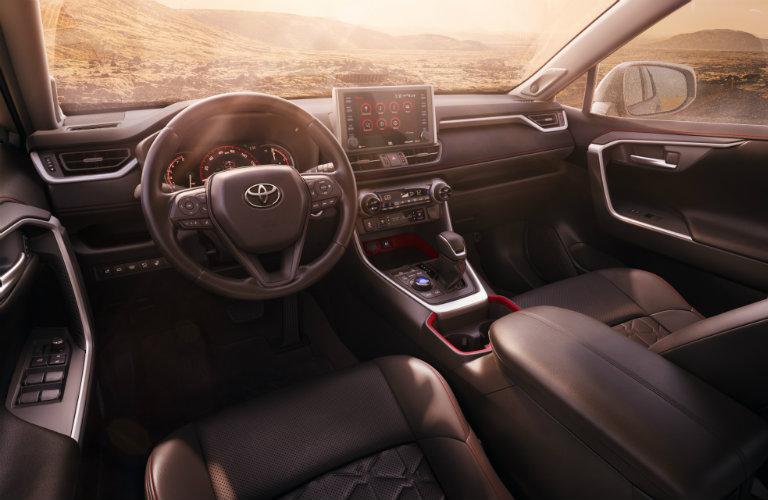 2020 Toyota RAV4 TRD dashboard and steering wheel