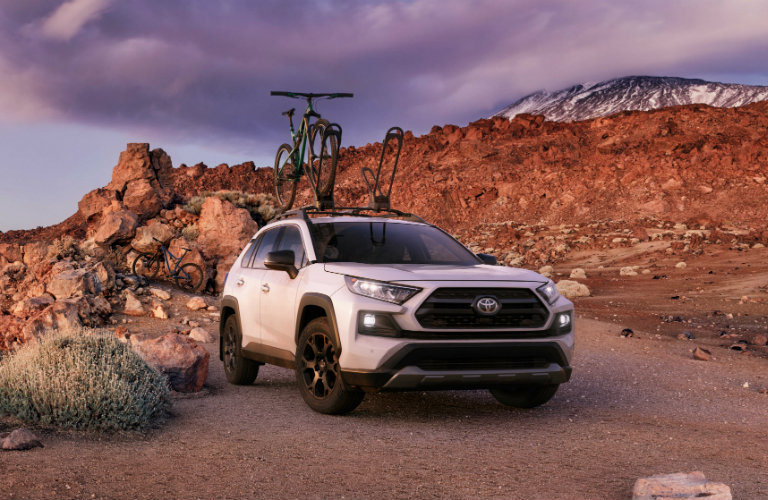 2020 Toyota RAV4 TRD driving on an off-road trail