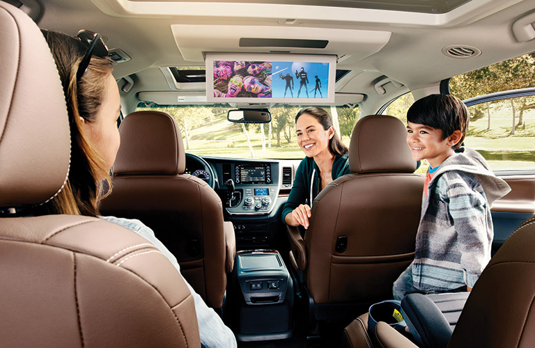 2020 Toyota Sienna Blu-ray Disc™ entertainment center with 16.4-inch color display